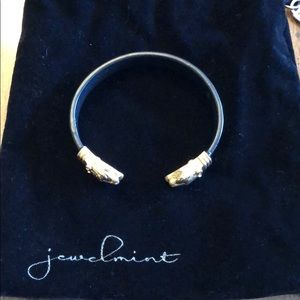 Jewelmint Lion Head Gold and Black Cuff Bracelet
